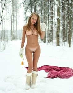 Girl naked in the snow