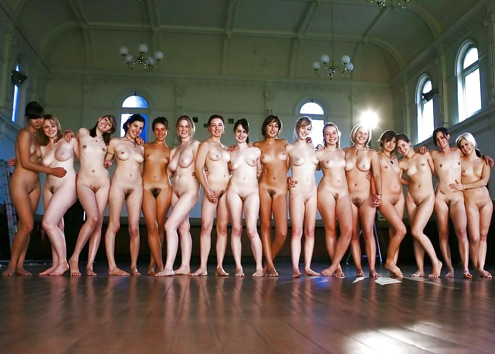 Groups of nude girls woman