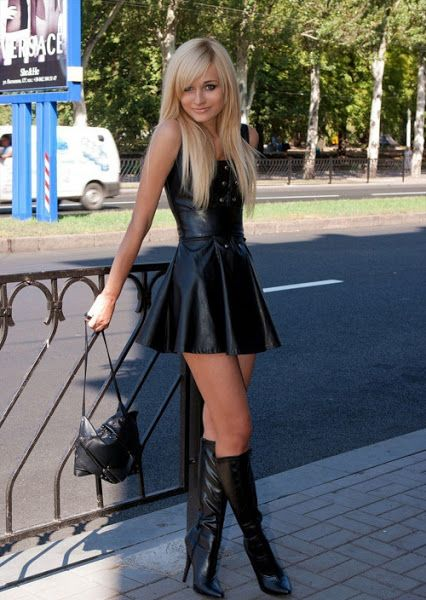 Girls in miniskirts and boots making love